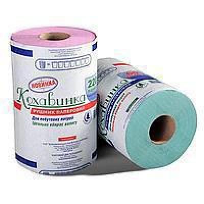 """Бумажные полотенца """"Кохавинка"""" на втулке отрывные , 134х215мм, 300 отрывов"""