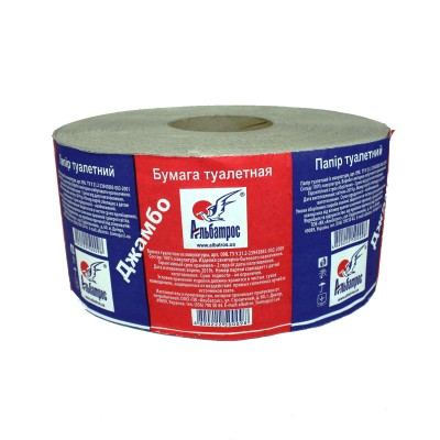 """Туалетная бумага в рулонах """"Джамбо"""" на гильзе d = 60, с тиснением"""