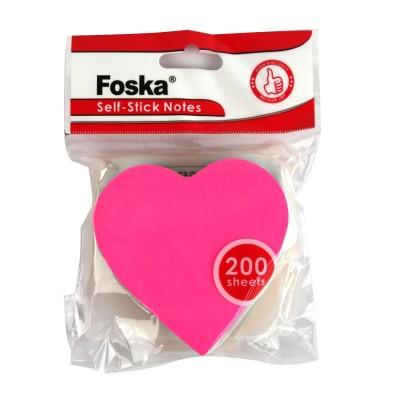 Стикеры для заметок (5201-15 сердце) 73 х 73мм, 75 gsm 200 листов
