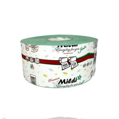 Оптовый Набор: Туалетная бумага MildiPremium Jambo однослойный 195х90 мм, зеленый, 16 шт. + Календарь
