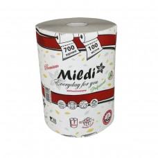 Полотенца рулонные Mildi Premium однослойные d = 160 мм, 100 м, серые