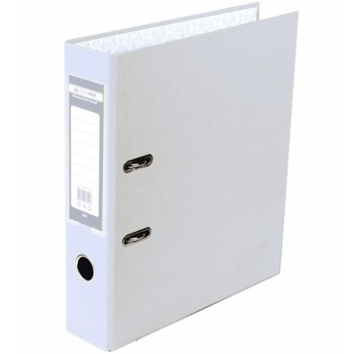 Регистратор LUX одност. JOBMAX А4, 50мм PP, белый, сборный