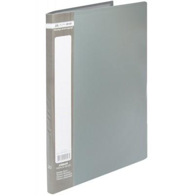 Папка с 30 файлами А4 JOBMAX, серый