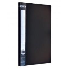 Папка A4 с боковым прижимом JOBMAX, черная
