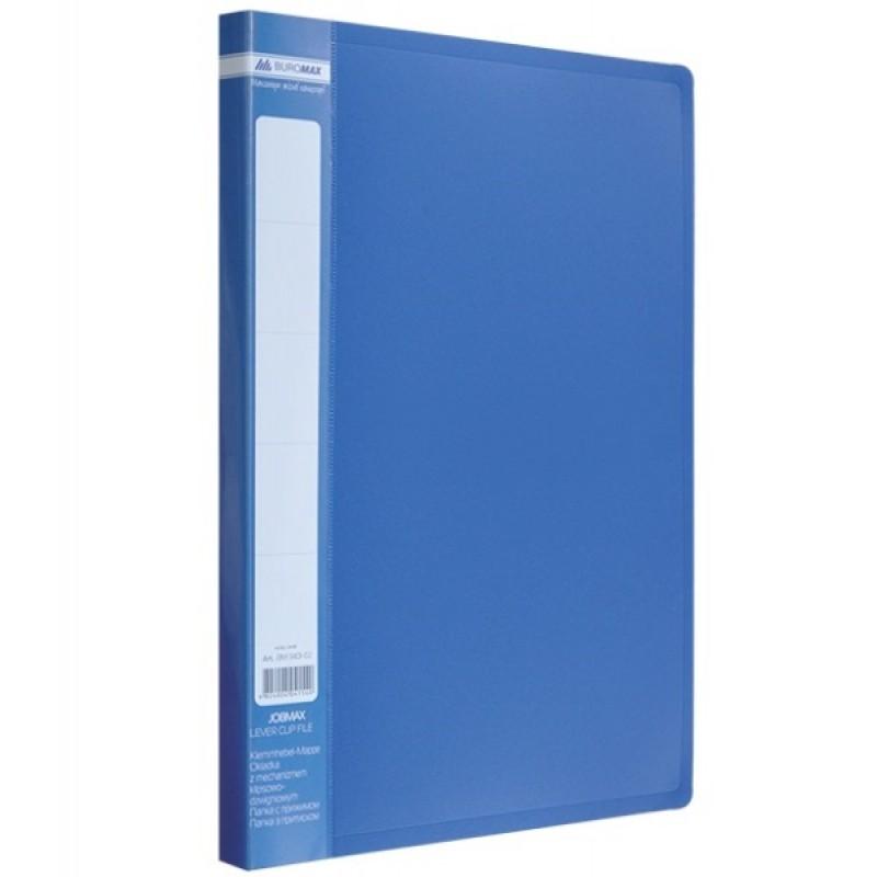 Папка A4 с боковым прижимом JOBMAX, синяя