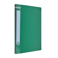 Папка A4 с боковым прижимом JOBMAX, зеленая