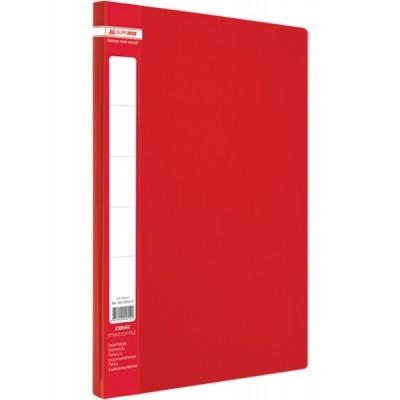 Папка A4 с боковым прижимом JOBMAX, красная