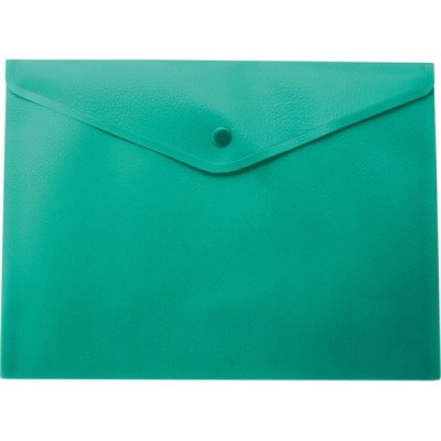 Папка-конверт А5 на кнопке, матовая, зеленый