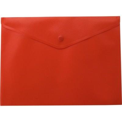 Папка-конверт А5 на кнопке, матовая, красный