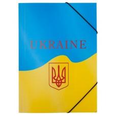 Папка на резинке A4, UKRAINE, желтый