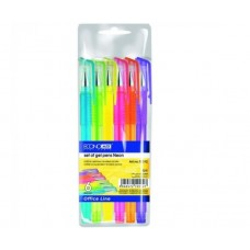 Набір гелевих ручок ECONOMIX NEON 6 кольорів чорнил, в блістері