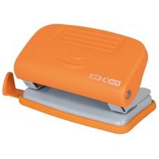 Дирокол Economix до 10 аркушів пластиковий помаранчевий