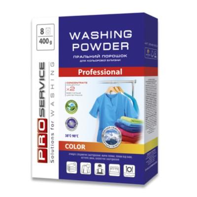 PRO Порошок стиральный бесфосфатный автомат Color (горная свежесть), 400 г (20 шт / ящ) (25481600)