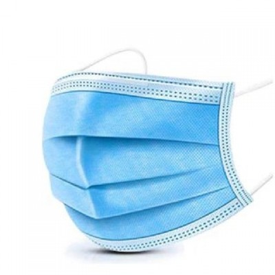 Маска защитная одноразовая голубая (3-х слойная спанбонд)