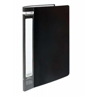 Папка с 10 файлами А4 JOBMAX, черный (BM.3600-01)