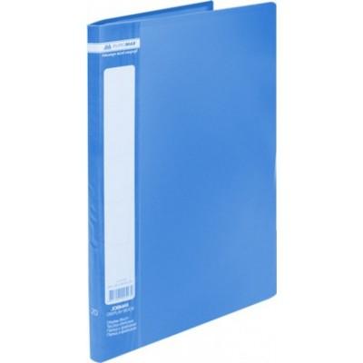 Папка с 20 файлами А4 JOBMAX, синий (BM.3605-02)