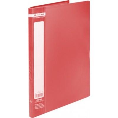 Папка с 20 файлами А4 JOBMAX, красный (BM.3605-05)