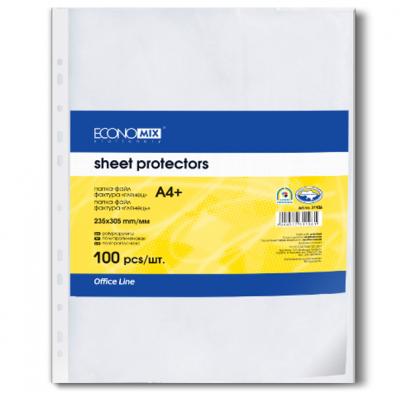 """Файл для документів А4 + Economix, 30 мкм, фактура """" глянець """" (100 шт. / Уп.)"""
