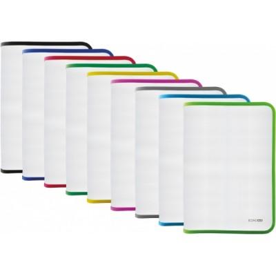 Папка-пенал пластиковая на молнии Economix А4, прозрачная, фактура: ткань, молния ассорти (E31644-99)
