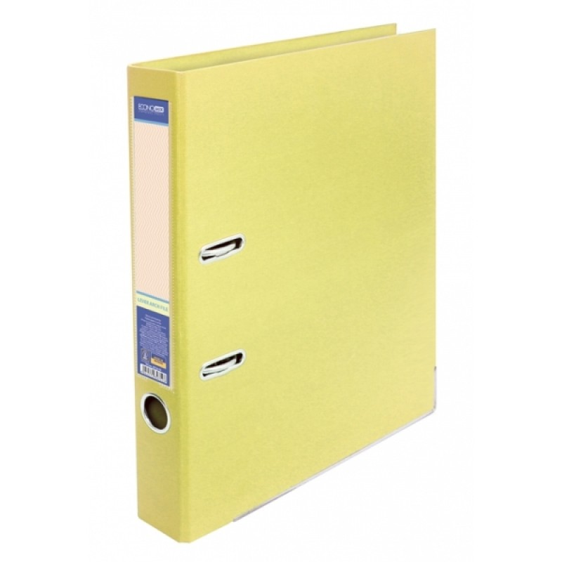 Папка-регистратор А4 LUX Economix, 50 мм, светло-лимонная (E39722 * 85)