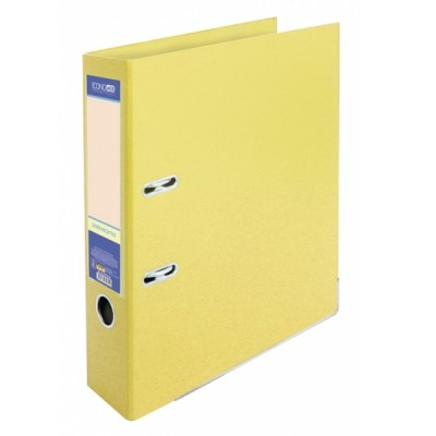 Папка-регистратор А4 LUX Economix, 70 мм, светло-лимонная (E39723 * 85)