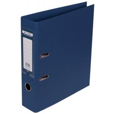 Папка-регистратор ELITE двухстор. А4, 70мм, тем.синий, PP, сборный