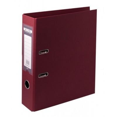 Папка-регистратор ELITE двухстор. А4, 70мм, PP, бордовый, сборный