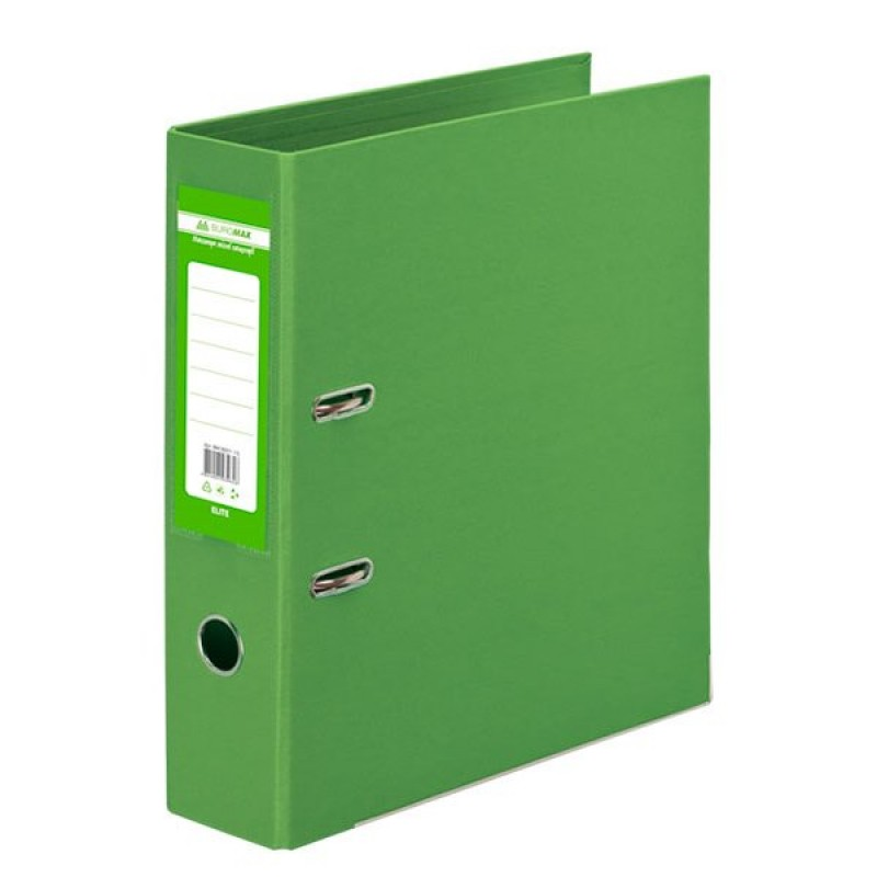 Папка-регистратор ELITE двухстор. А4, 70мм, PP, салатовый, сборный
