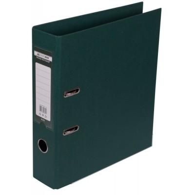 Папка-регистратор ELITE двухстор. А4, 70мм, PP, тем.зеленый, сборный