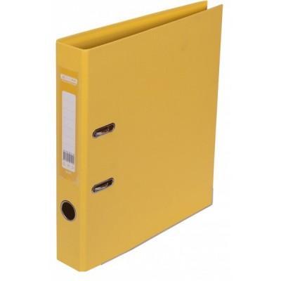 Папка-регистратор ELITE двухстор. А4, 50мм, PP, желтый, сборный