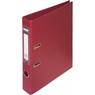 Папка-регистратор ELITE двухстор. А4, 50мм, PP, бордовый, сборный