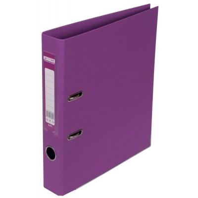 Папка-регистратор ELITE двухстор. А4, 50мм, PP, сиреневый, сборный
