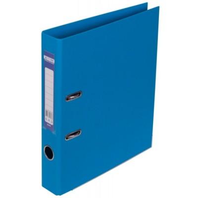 Папка-регистратор ELITE двухстор. А4, 50мм, PP, светло-синий, сборный