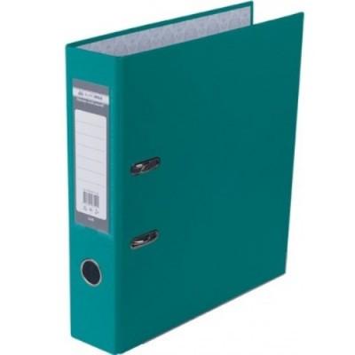 Папка-регистратор LUX одност. JOBMAX А4, 70мм PP, бирюзовый, сборный