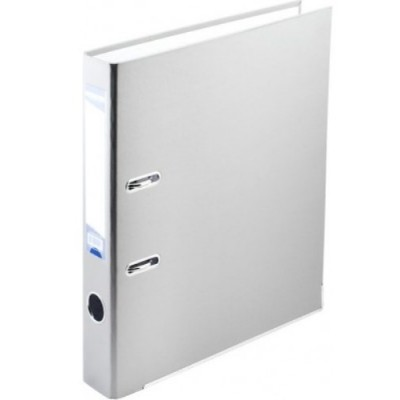 Папка-регистратор LUX одност. JOBMAX А4, 70мм PP, белый, сборный