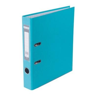 Папка-регистратор LUX одност. JOBMAX А4, 50мм PP, голубой, сборный