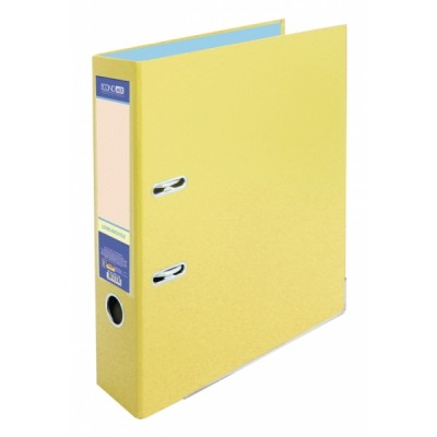 Папка-регистратор А4 Economix, 70 мм, светло-лимонная