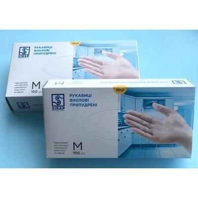 Перчатки виниловые М 100шт / пач PRO