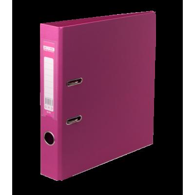 Папка регистратор ELITE двусторонняя A4, 70 мм, розовая
