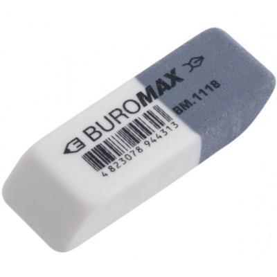 Ластик с абразивной частью белый 41*14*8mm Buromax