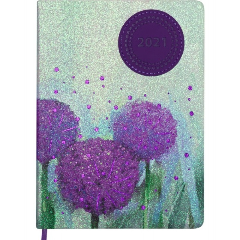 Ежедневник датированный Buromax Cherie A5 на 336 страниц Фиолетовый