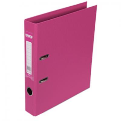 Регистратор ELITE двухстор. А4, 50мм, розовый, PP, сборный