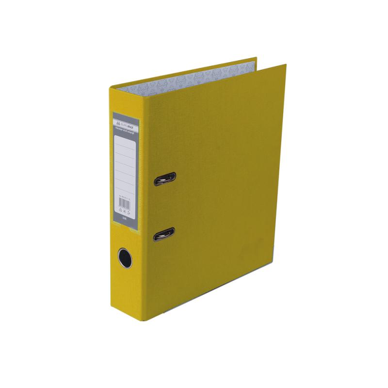 Оптовый Набор: Папка регистратор LUX односторонняя JOBMAX A4, 50 мм, желтая. 1 короб, 10 папок BM3012-10-08C