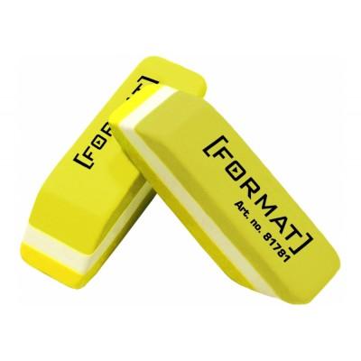 Резинка для карандаша 40 * 12 * 10 мм, желто-белая