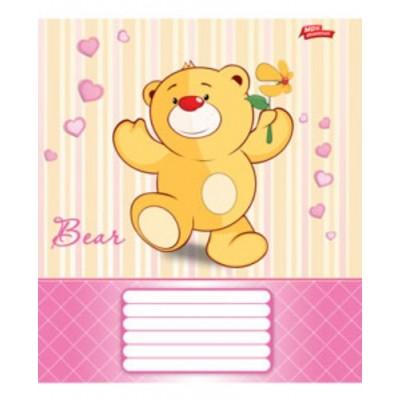 Тетрадь 12 листов в линию (2153л) Медвежонок
