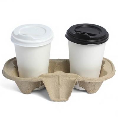 Картонная подставка под кофе на два стакана 50шт / уп