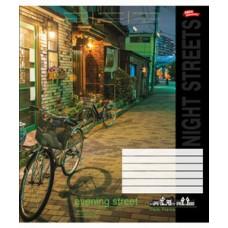 Тетрадь 24 листа в клеточку (3121к) Вечерние улицы
