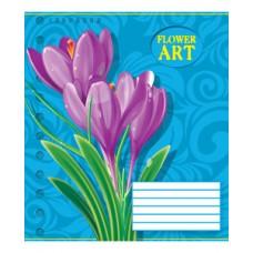 Тетрадь 18 листов в клетку (2867к) Искусство цветов