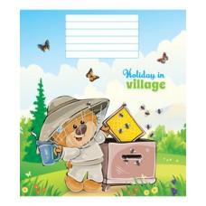 Тетрадь 12 листов в клетку (2830к) Медвежата на хозяйстве