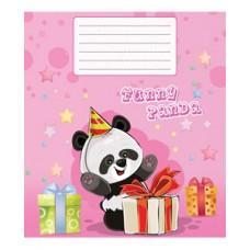 Тетрадь 12 листов в косую линию (2817с) Панда